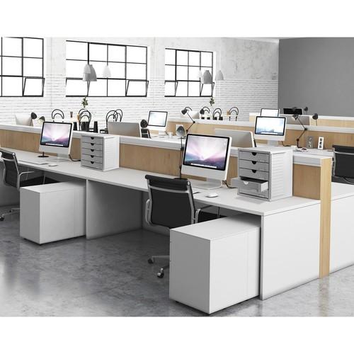 Schubladenbox Systembox 5 Schübe 275x320x330mm lichtgrau Kunststoff HAN 1450-11 Produktbild Additional View 2 L