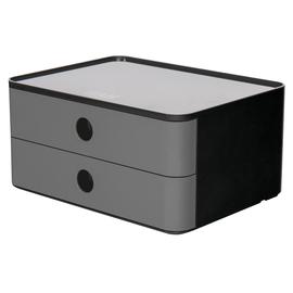 Schubladenbox Allison mit 2 Schüben 260x125x195mm granite grey Kunststoff stapelbar HAN 1120-19 Produktbild