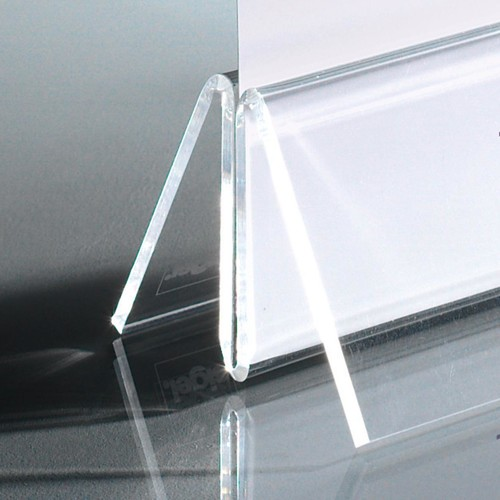 Kartenhalter mit Klemmfunktion 100x45mm glasklar Acryl Sigel TA150 (PACK=2 STÜCK) Produktbild
