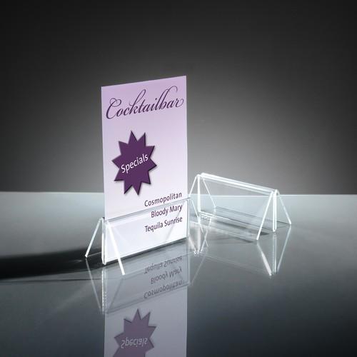 Kartenhalter mit Klemmfunktion 100x45mm glasklar Acryl Sigel TA150 (PACK=2 STÜCK) Produktbild Additional View 2 L