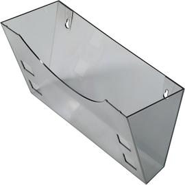 Prospektfach-Wandhalter für A4+A5+A6 240x105x165mm grau transparent Helit H6103008 Produktbild