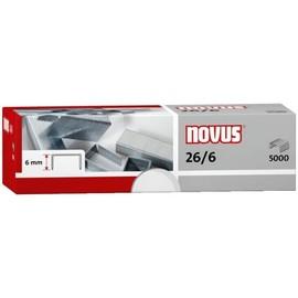 Heftklammern 26/6 verzinkt Novus 040-0160 (PACK=5000 STÜCK) Produktbild