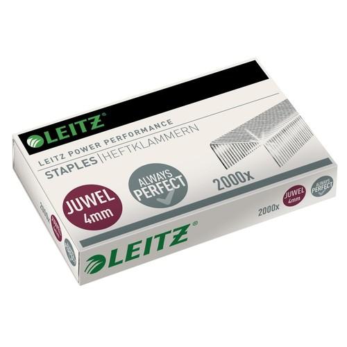 Heftklammern Juwel 4mm verzinkt Leitz 5640-00-00 (PACK=2000 STÜCK) Produktbild Front View L