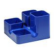 Köcher uni-butler 13x13x9cm royalblau Kunststoff Arlac 234-24 Produktbild