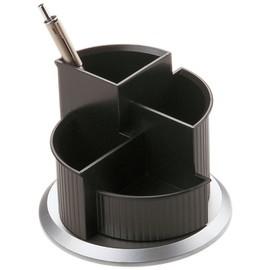 Multiköcher Silver drehbar Durchmesser 150mm/H 112mm schwarz-silber Kunststoff Helit H6220599 Produktbild