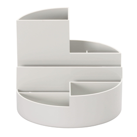 Köcher Rundbox Durchmesser 14cm/H 12,5cm grau Kunststoff Maul 41176-82 Produktbild