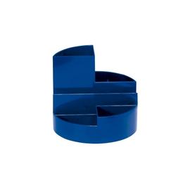Köcher Rundbox Durchmesser 14cm/H 12,5cm blau Kunststoff Maul 41176-37 Produktbild