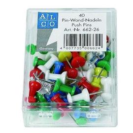 Pinnwandnadeln farbig sortiert Kunststoff Griffknopf ALCO 662-26 (DS=40 STÜCK) Produktbild