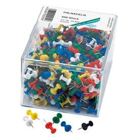 Pinwandnadeln farbig sortiert Kunststoff Griffknopf WEDO 54600 (DS=600 STÜCK) Produktbild