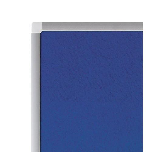 Textil-Pinnwand PREMIUM mit Aluminiumrahmen 90x120cm blau Legamaster 7-141554 Produktbild Additional View 2 L