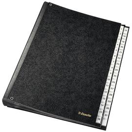 Pultordner 32 Fächer 1-31 Sichtlöcher A4 schwarz Hartpappe Esselte 1114119 Produktbild