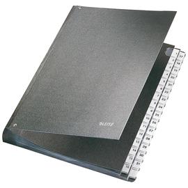 Pultordner 32 Fächer 1-31 A4 schwarz Hartpappe Leitz 5831-00-95 Produktbild