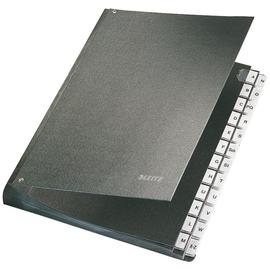 Pultordner 24 Fächer A-Z  A4 schwarz Hartpappe Leitz 5824-00-95 Produktbild
