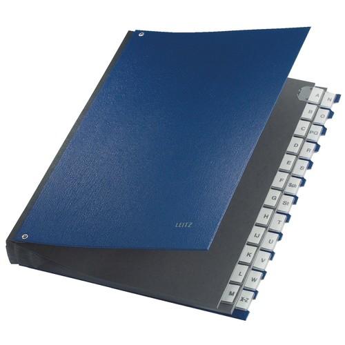 Pultordner 24 Fächer A-Z A4 blau PP Leitz 5924-00-35 Produktbild Front View L