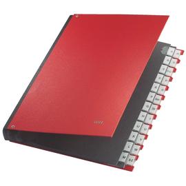 Pultordner 24 Fächer A-Z  A4 rot PP Leitz 5924-00-25 Produktbild