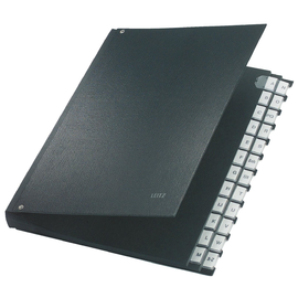 Pultordner 24 Fächer A-Z  A4 schwarz PP Leitz 5924-00-95 Produktbild