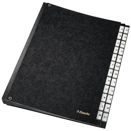 Pultordner 24 Fächer A-Z Sichtlöcher A4 schwarz Hartpappe Esselte 629997 Produktbild