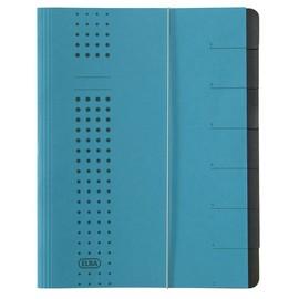 Ordnungsmappe chic mit Gummizug A4 mit 7 Fächern blau Karton Elba 400002020 Produktbild