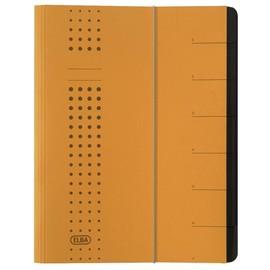 Ordnungsmappe chic mit Gummizug A4 mit 7 Fächern gelb Karton Elba 400002022 Produktbild