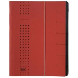 Ordnungsmappe chic mit Gummizug A4 mit 7 Fächern rot Karton Elba 400002024 Produktbild