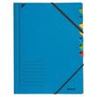 Ordnungsmappe mit Gummizug A4 mit 7 Fächern blau Karton Leitz 3907-00-35 Produktbild