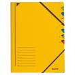 Ordnungsmappe mit Gummizug A4 mit 7 Fächern gelb Karton Leitz 3907-00-15 Produktbild