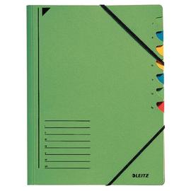 Ordnungsmappe mit Gummizug A4 mit 7 Fächern grün Karton Leitz 3907-00-55 Produktbild