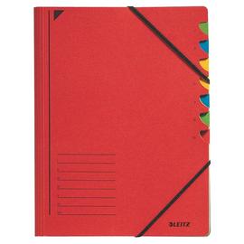 Ordnungsmappe mit Gummizug A4 mit 7 Fächern rot Karton Leitz 3907-00-25 Produktbild