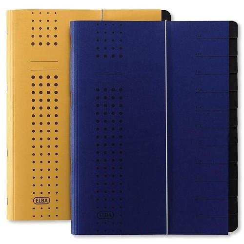 Ordnungsmappe chic mit Gummizug A4 mit 12 Fächern blau Karton Elba 400001035 Produktbild Additional View 1 L