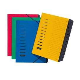 Ordnungsmappe mit 12 Fächern und Gummizug blau Karton Pagna 24122-02 Produktbild