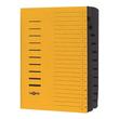 Ordnungsmappe mit 12 Fächern und Gummizug gelb Karton Pagna 24122-05 Produktbild Additional View 1 S