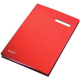 Unterschriftsmappe 20Fächer A4 rot Pappe mit PP Esselte 621062 Produktbild