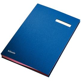 Unterschriftsmappe 20Fächer A4 blau Pappe mit PP Esselte 621063 Produktbild