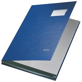 Unterschriftsmappe 10Fächer A4 blau PP Leitz 5701-00-35 Produktbild