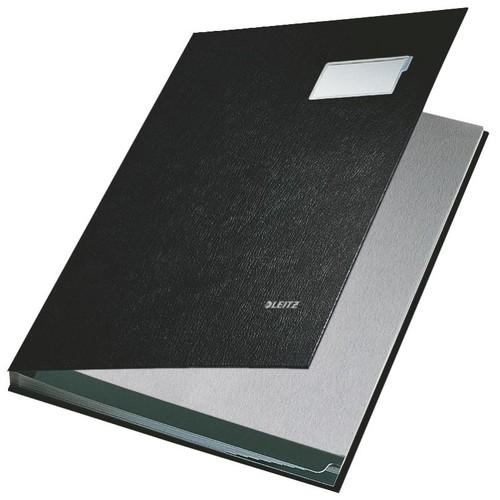 Unterschriftsmappe 10Fächer A4 schwarz PP Leitz 5701-00-95 Produktbild Front View L