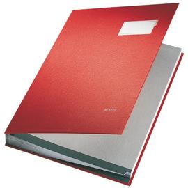 Unterschriftsmappe 20Fächer A4 rot PP Leitz 5700-00-25 Produktbild