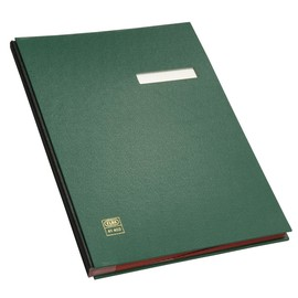 Unterschriftsmappe 20Fächer A4 grün PVC Elba 400001008 Produktbild