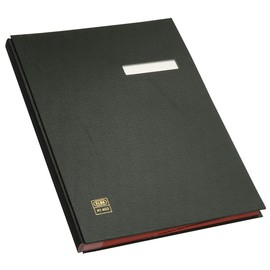 Unterschriftsmappe 20Fächer A4 schwarz PVC Elba 400001002 Produktbild