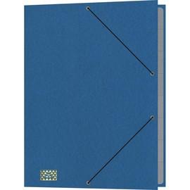 Ordnungsmappe mit 9 Fächern und Gummizug mit 3 Klappen A4 blau Karton RNK 4616-4 Produktbild