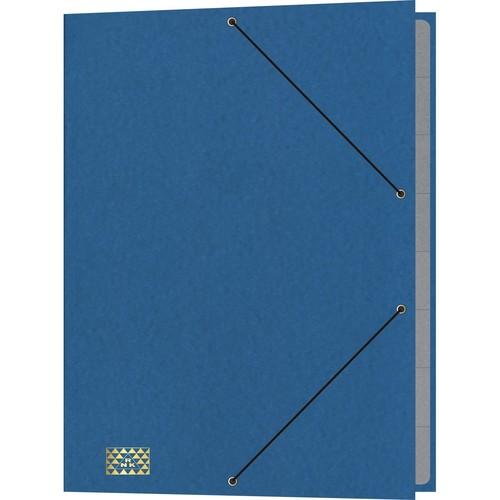 Ordnungsmappe mit 9 Fächern und Gummizug mit 3 Klappen A4 blau Karton RNK 4616-4 Produktbild Front View L