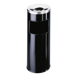 Standascher mit Abfallsammler und Flammenlöschkopf 2l + 17l schwarz Metall Durable 3332-01 Produktbild