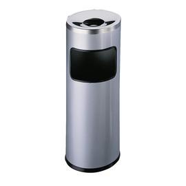Standascher mit Abfallsammler und Flammenlöschkopf 2l + 17l metallic silber Metall Durable 3332-23 Produktbild