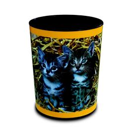 Papierkorb mit Morivposter Katze im Stroh 13l Läufer 26654 Produktbild