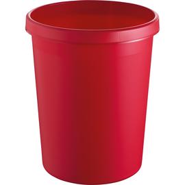 Papierkorb Standard 45l rot Helit H6106225 Produktbild