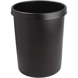 Papierkorb Standard 45l schwarz Helit H6106295 Produktbild