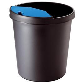 Abfalleinsatz mit Deckel Standard 2l schwarz/blau Helit H6106093 Produktbild