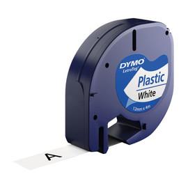 Schriftband Letratag 12mm/4m schwarz auf weiß Plastik Dymo S0721660 (ST=4 METER) Produktbild