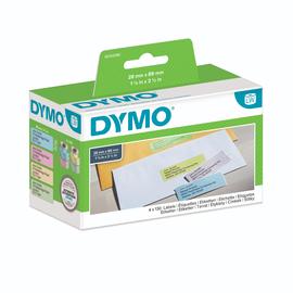 LabelWriter-Adress-Etiketten 28x89mm sortiert Dymo S0722380 (PACK=4 STÜCK à 130 ETIKETTEN) Produktbild