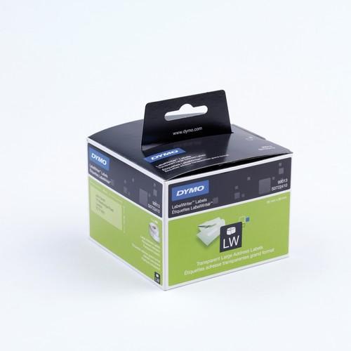 LabelWriter-Adress-Etiketten 36x89mm transparent Kunststoff Dymo S0722410 (PACK=260 ETIKETTEN) Produktbild Front View L