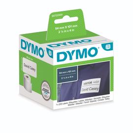 LabelWriter-Versand-/Namensschild- Etiketten 54x101mm weiß Dymo S0722430 (PACK=220 ETIKETTEN) Produktbild